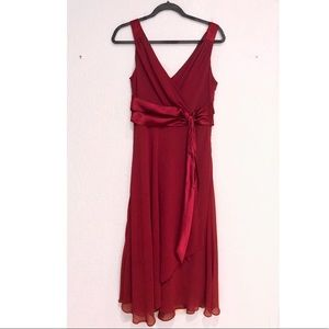 Burgundy Red Midi Dress